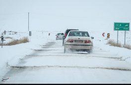 برف و کولاک شدید جاده اهر – تبریز  را فرا گرفت