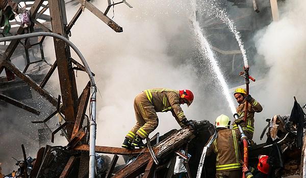 فیلم/ جدیدترین تصاویر از حادثه ساختمان پلاسکو