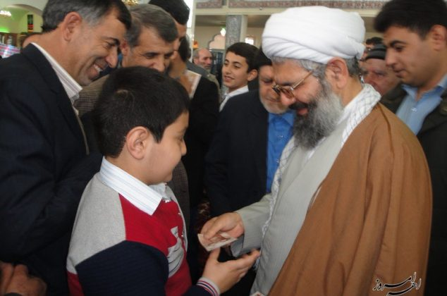 تصویری/ مراسم تحویل سال نو در مصلی نماز جمعه ( آستان امامزاده سید علی(ع))