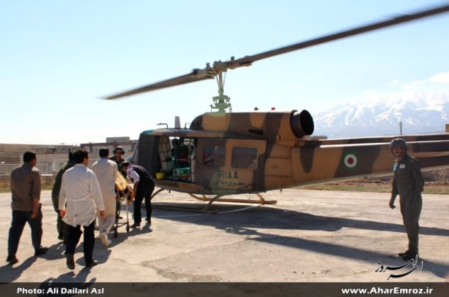 تصویری/ اعزام اورژانس هوایی برای انتقال بیمار ۶۰ ساله به اهر