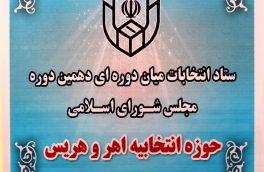 شش نفر از نامزدهای انتخابات میاندورهای مجلس دهم اهر و هریس انصراف دادند + اسامی
