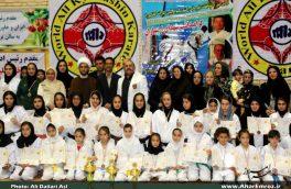 تصویری/ مسابقات قهرمانی کاراته بانوان کشور در اهر