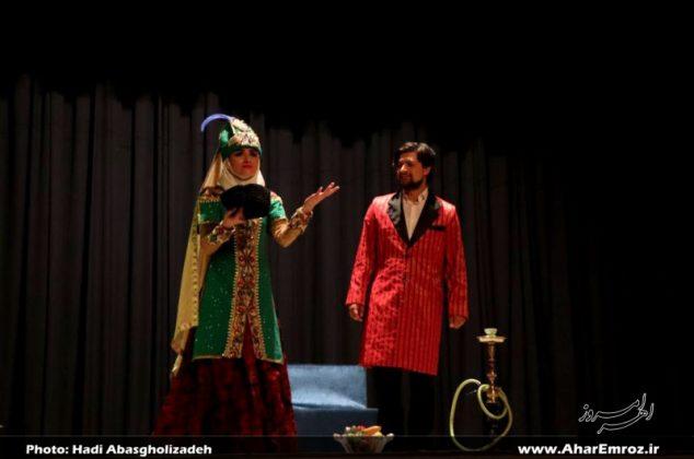 تصویری/ نمایش گروه ملی تئاتر جمهوری آذربایجان در اهر