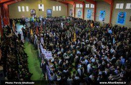 تصویری/ اجتماع بزرگ بسیجیان مدافع حرم شهرستان اهر (۲)