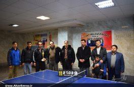 تصویری/ مسابقات آزاد تنیس روی میز به مناسبت دهه فجر در اهر