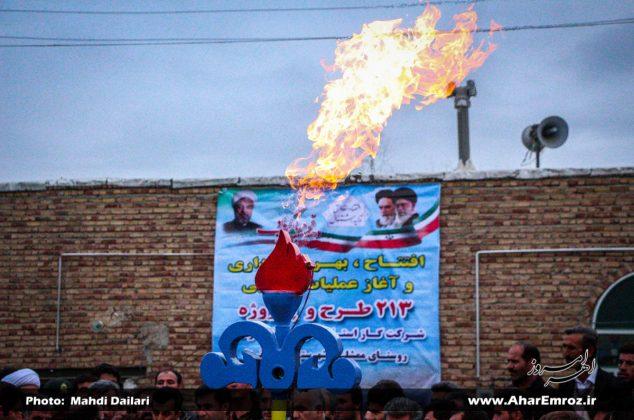 تصویری/ افتتاح گاز ۹ روستای شهرستان هوراند