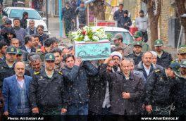 تصویری/  استقبال از پیکر ۲ شهید گمنام دفاع مقدس در شهرستان اهر