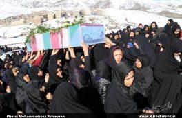 پیکر ۲ شهید گمنام در شهرستان هوراند تشییع و تدفین شد