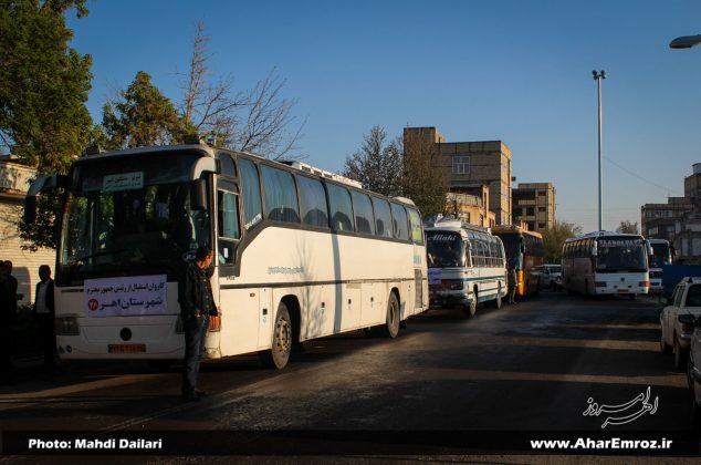 تصویری/ کاروان استقبال مردم شهرستان اهر از رئیس جمهور