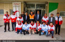 تصویری/ بازدید فرماندار اهر از هلال احمر شهرستان اهر