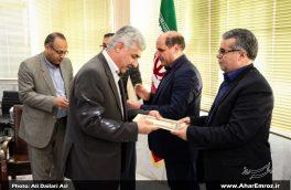 تصویری/ مراسم معارفه و اعطای حکم به اعضای شورای ارزشیابی و نظارت بر نمایش شهرستان اهر