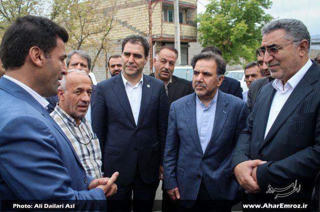 تصویری/ حضور وزیر راه و شهرسازی در شهرستان هوراند