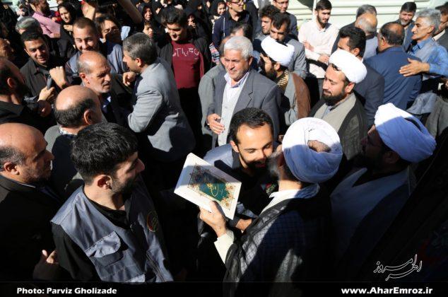 تصویری/ بدرقه کاروان موکب اربعین شهدای منطقه ارسباران