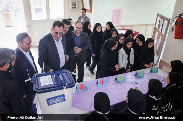 تصویری/  بیست و یکمین دوره انتخابات شورای دانش آموزی در مدارس اهر