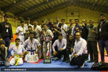 برگزاری مسابقات قهرمانی سبک کیوکوشین کاراته ماتسوشیما آذربایجان شرقی با قهرمانی اهر
