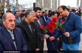 تصویری/ غبارروبی و عطرافشانی مزار شهیدان به مناسبت روز بزرگداشت شهدا