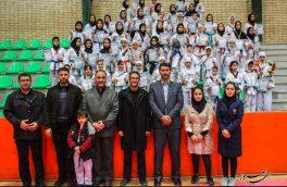 تصویری/ اولین دوره مسابقات چهارجانبه تکواندو بانوان در اهر