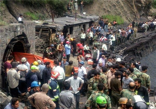 همه ۳۵ کارگر محبوس شده در معدن جان باختند/ ۲۱ جنازه از زیر آوار خارج شده است/ عملیات برای خارج کردن اجساد ادامه دارد/ آخرین اسامی مصدومان+تصاویر حادثه