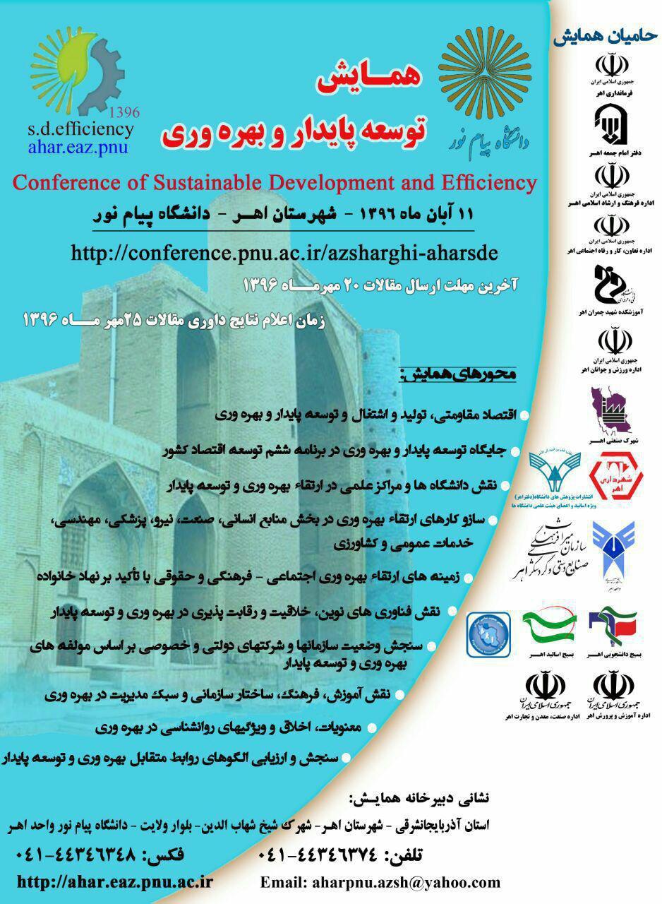 همایش توسعه پایدار و بهره وری در اهر برگزار می شود