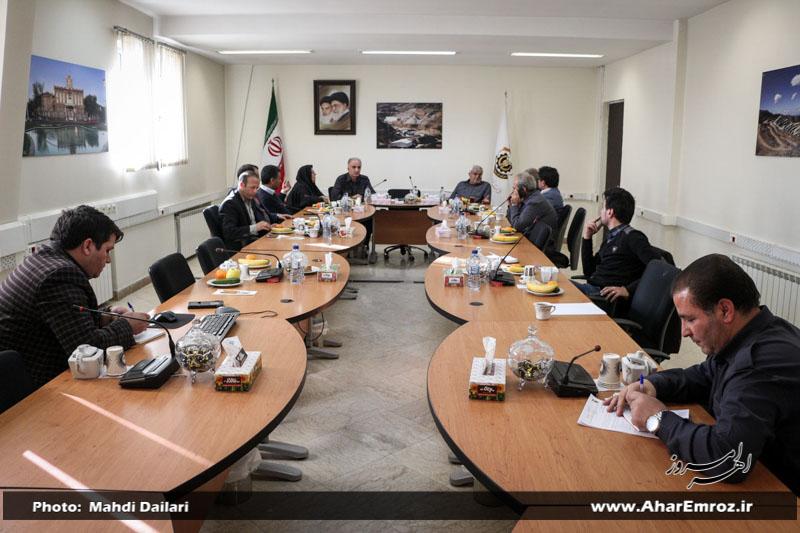 اعضای شورای شهر و سرپرست شهرداری اهر با مدیرعامل مس آذربایجان دیدار کردند