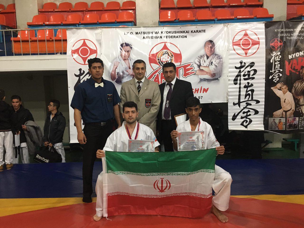 درخشش رزمی کاران اهری در مسابقات کیوکوشین ماتسوشیما ۲۰۱۷ ارمنستان
