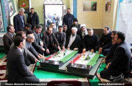 تصویری/ افتتاح یادمان شهدای گمنام دانشگاه آزاد اسلامی واحد اهر