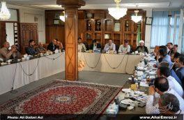 تصویری/ نشست خبری فرماندار و روئسای ادارات با خبرنگاران به مناسبت هفته دولت