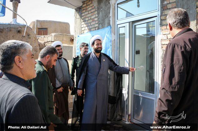 تصویری/ آیین افتتاح سه واحد خانه محروم در روستای سرقین شهرستان اهر