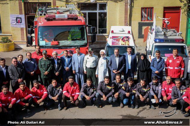تصویری/ مراسم روز آتشنشانی و ایمنی در شهرستان اهر