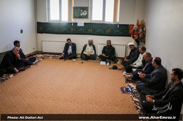 تصویری/ جلسه هماهنگی ستاد یادواره ۱۲۰۰ شهید منطقه ارسباران در اهر