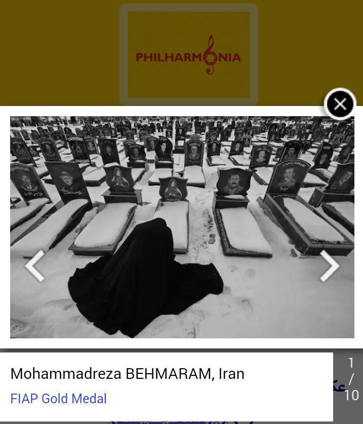عکاس اهری مدال طلای فیاپ جشنواره بینالمللی عکس فیلارمونیای قرقیزستان را کسب کرد