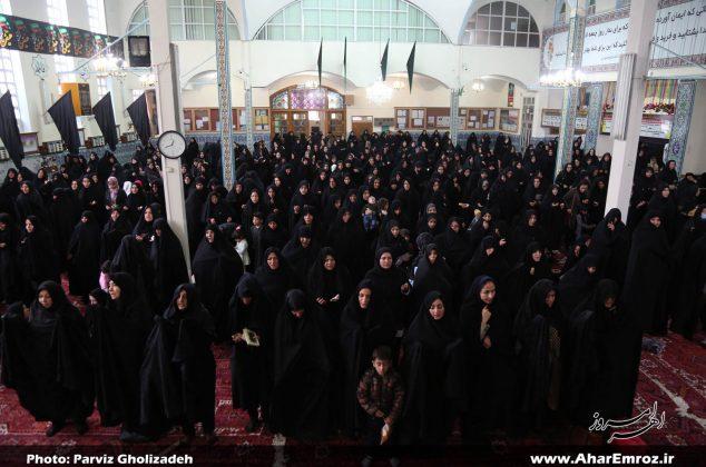 تصویری/تجمع بزرگ عزاداران رهروان زینبی (س) در اهر