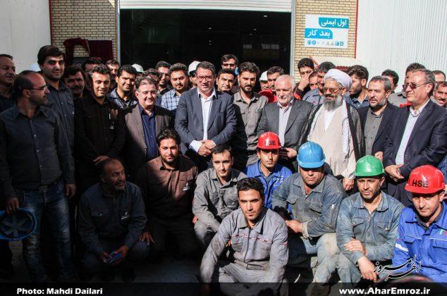 تصویری/ مراسم افتتاحیه رسمی کارخانه کنسانتره معدن مس انجرد شهرستان اهر توسط وزیر صمت