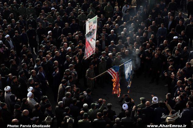 تصویری/ راهپیمایی مردم شهرستان اهر در پی شهادت«سردارسلیمانی»