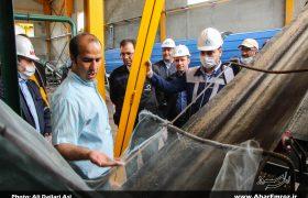 تصویری/ بازدید معاون شرکت تهیه و تولید مواد معدنی ایران از مجتمع نفلینسینیت کلیبر