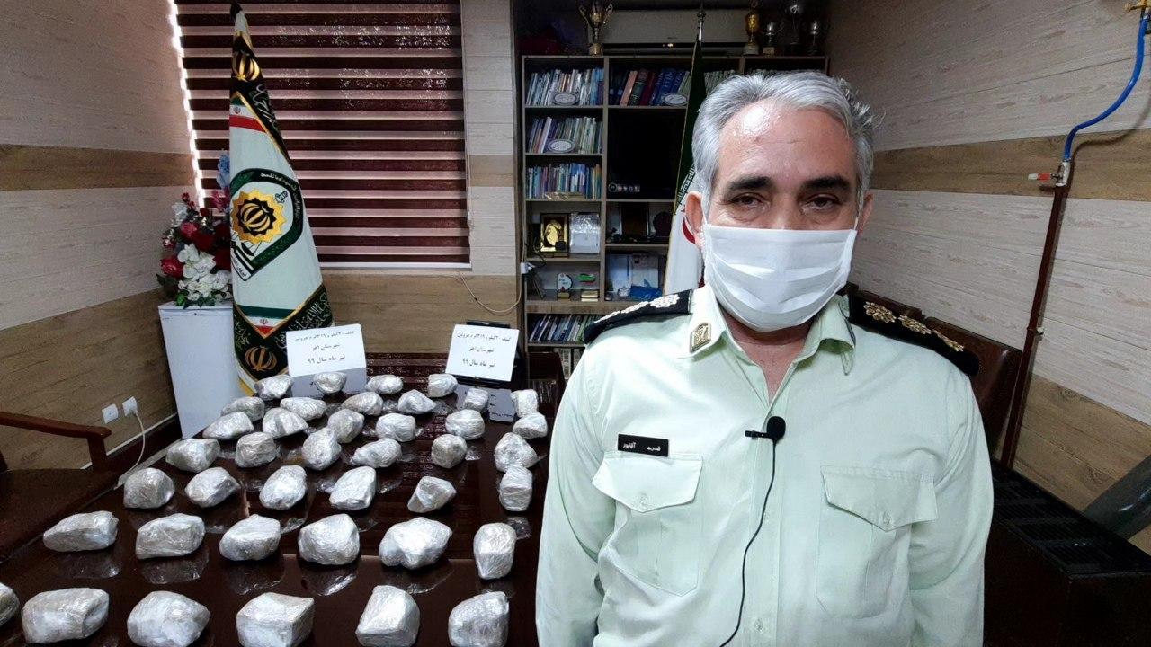 افزایش ۴۷ درصدی کشفیات مواد مخدر در شهرستان اهر/ کشف ۲۰ کیلوگرم هروئین ترانزیتی بین استانی در جاده اهر-تبریز/ دستگیری ۹۰ فرشنده و مصرف کننده مواد مخدر اهر
