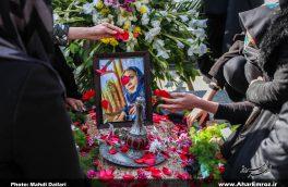 تصویری/ تشییع پیکر اولین بانوی شهید مدافع سلامت شهرستان اهر