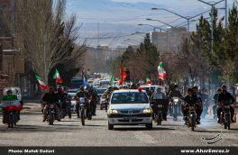 تصویری/ راهپیمایی ۲۲ بهمن در اهر