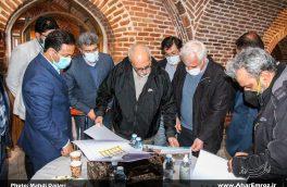 ارزیاب یونسکو از کاروانسرای تاریخی گویجه بئل اهر بازدید کرد